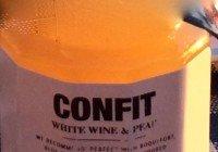 Hvitvin og pæreconfit