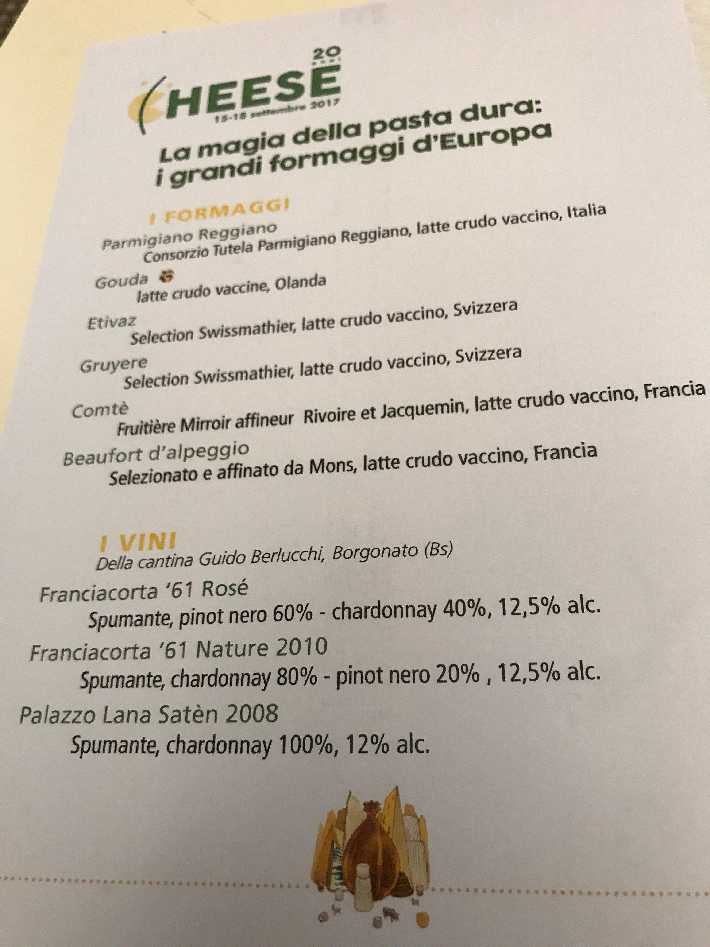 Ostene som ble smakt på smakingen for faste europeiske oster under Cheese 2017