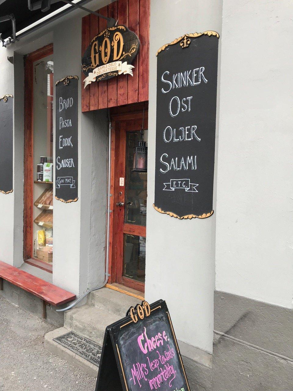 Gamle oslo delikatesse, liten men god delikatessebutikk